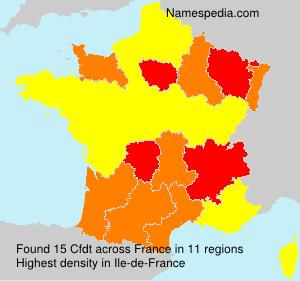 Surname Cfdt in France