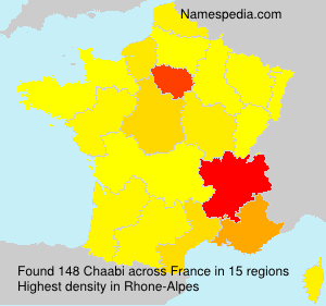 Surname Chaabi in France