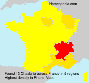 Surname Chaabnia in France