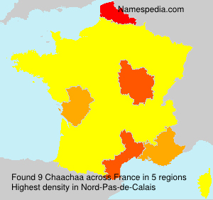 Surname Chaachaa in France