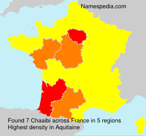 Surname Chaaibi in France
