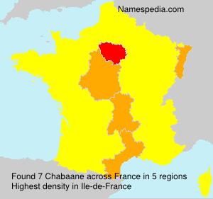 Surname Chabaane in France