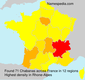 Surname Chabanas in France