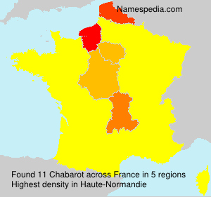 Surname Chabarot in France