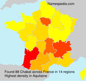 Surname Chabat in France