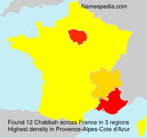 Surname Chabbah in France