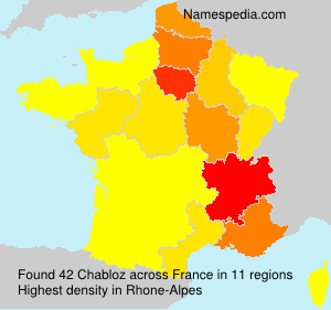 Surname Chabloz in France