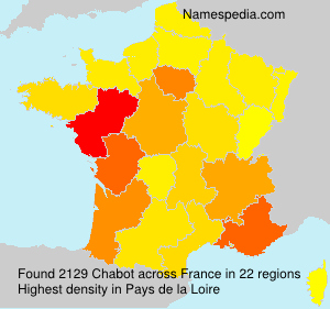 Surname Chabot in France