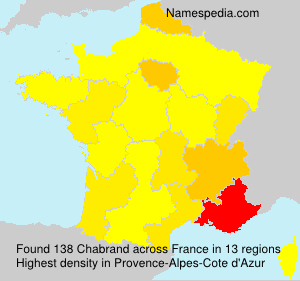 Surname Chabrand in France