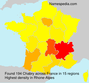 Surname Chabry in France