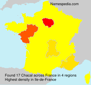 Surname Chacal in France