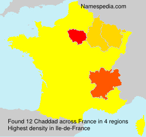 Surname Chaddad in France