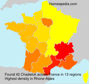 Surname Chadwick in France