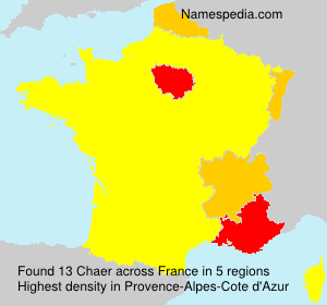 Surname Chaer in France