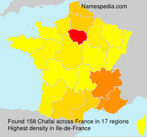 Surname Chafai in France