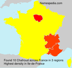 Surname Chafroud in France