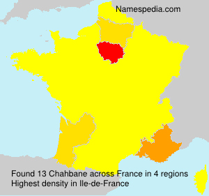 Surname Chahbane in France