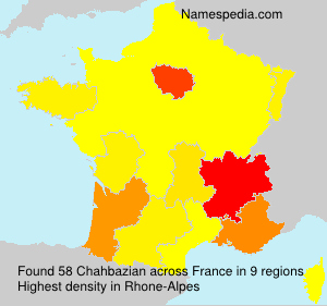 Surname Chahbazian in France