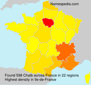Surname Chaib in France