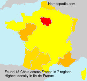 Surname Chaid in France