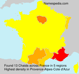 Surname Chaida in France