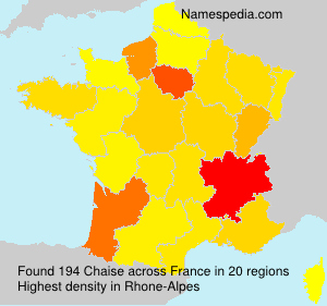 Surname Chaise in France