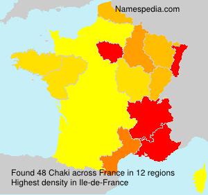 Surname Chaki in France