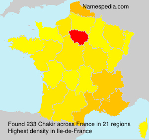 Surname Chakir in France