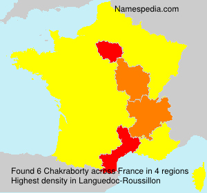 Surname Chakraborty in France