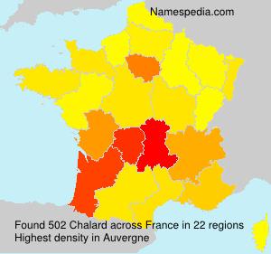 Surname Chalard in France