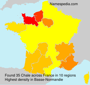Surname Chale in France