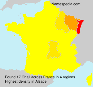 Surname Chall in France