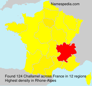 Surname Challamel in France