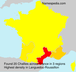 Surname Challies in France