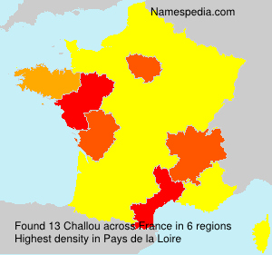 Surname Challou in France