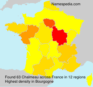 Surname Chalmeau in France