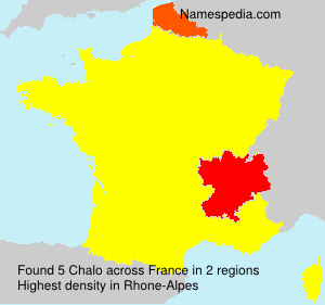Surname Chalo in France