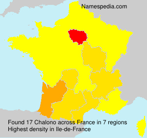 Surname Chalono in France