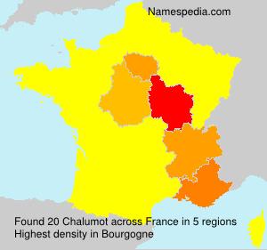 Surname Chalumot in France