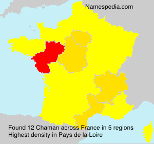 Surname Chaman in France