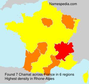 Familiennamen Chamat - France