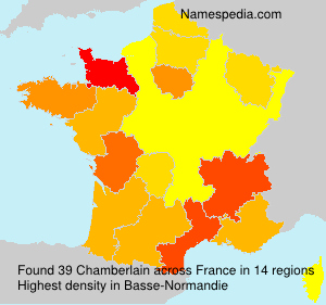 Surname Chamberlain in France