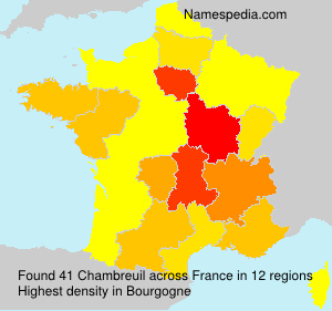 Surname Chambreuil in France