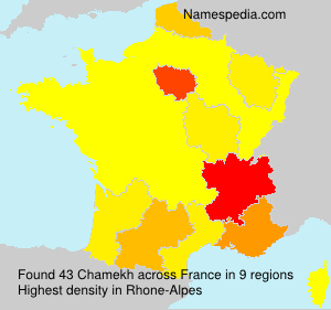 Surname Chamekh in France