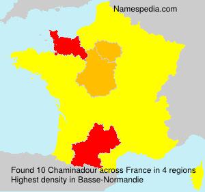Familiennamen Chaminadour - France