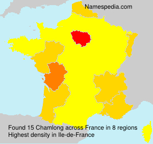 Surname Chamlong in France