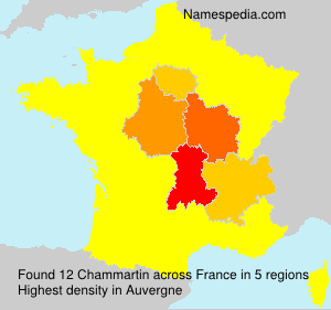 Surname Chammartin in France