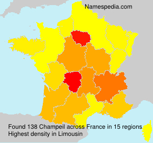 Surname Champeil in France