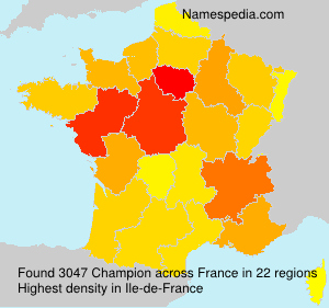 Surname Champion in France