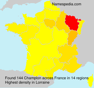 Surname Champlon in France